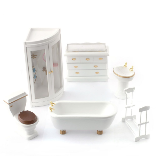 Dolls House Furniture 1:12 DF895 Bathroom and Shower Set